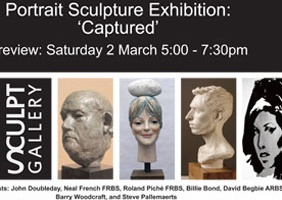 Portrait Sculpture Exhibition: 'Captured' 2013