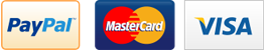 Payments accepted by Visa, Mastercard and Paypal