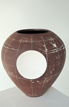 Emily Myers - Globe Vase with Concave Circle